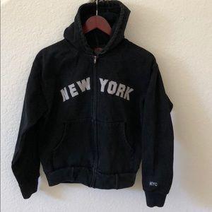 PSNY Black 100% Super Thick Cotton Hoodie Size S